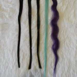 Multi colored Hair Extensions Bundle